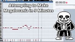 Attempting to Make Megalovania in 5 Minutes || Shady Cicada