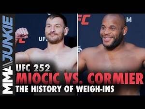 History of weigh-ins: Stipe Miocic vs. Daniel Cormier | UFC 252