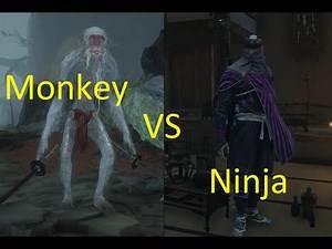 White Monkey Dual Katana vs Lone Shadow Ninja - Sekiro enemy battle