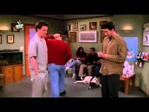 Friends Ross, Chandler and Joey crying