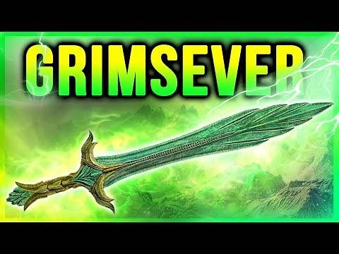 SKYRIM Best Glass Sword at Level One (Grimsever Location Guide)