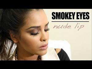 Smokey Eyes Nude Lip Makeup Tutorial N1kk1sSecr3t