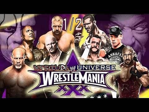 WWE WRESTLEMANIA 30 FULL SHOW!!!   PART 1