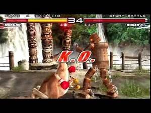Tekken 5 (PlayStation 2) Story Battle as Mokujin