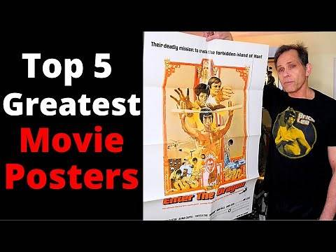 5 BEST BRUCE LEE Movie POSTERS of all TIME! GREATEST Original Vintage 1 Sheets!