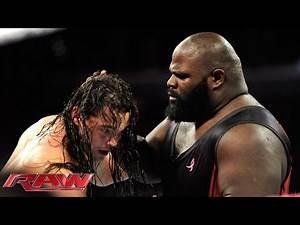 Mark Henry vs. Bo Dallas: Raw, Oct. 6, 2014
