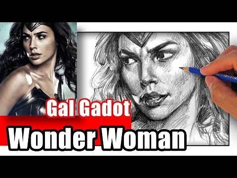 How to Draw Wonder Woman - Gal Gadot