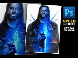 ROMAN REIGNS VS. KEVIN OWENS - LAST MAN STANDING - ROYAL RUMBLE 2021 POSTER // SPEED ART