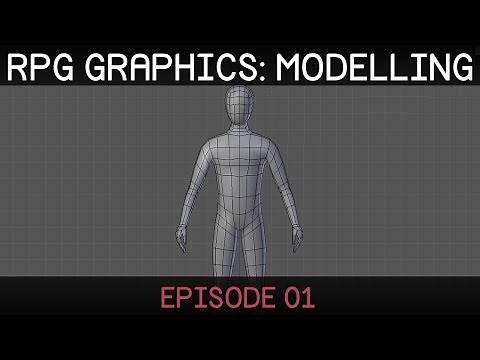 RPG graphics E01: Character model [Blender]