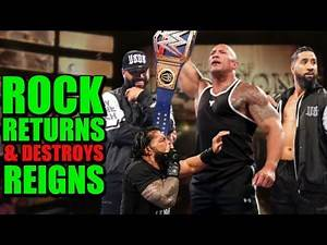 The Rock Returns & DESTROYS Heel Roman Reigns - The Usos Form New Faction With The Rock 2020 LEAKED!