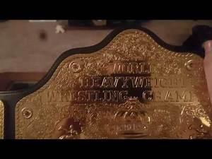 WCW World Heavyweight Championship Replica Belt Review!!!!