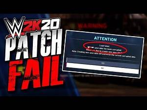 Patch 1.03 For WWE 2K20 Accidentally DELETES Save! #FixWWE2K20
