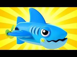 Shark Cartoon Truck videos for kids - There are SHARKS in the canal - Super Truck in Car City !