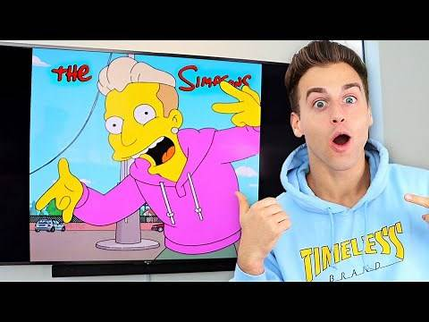 Reacting To MYSELF On The SIMPSONS! (SPECIAL GUEST FEATURE)