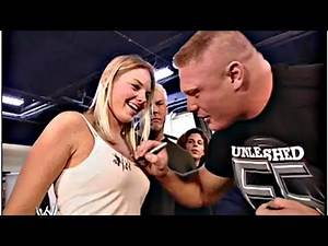 Brock Lesnar Signs A Ginl's Autograph - Torrie Wilson & Sable Backstage; SmackDown April 25, 2006