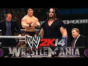 WWE 2K14 - Undertaker & Paul Bearer vs Brock Lesnar & Paul Heyman