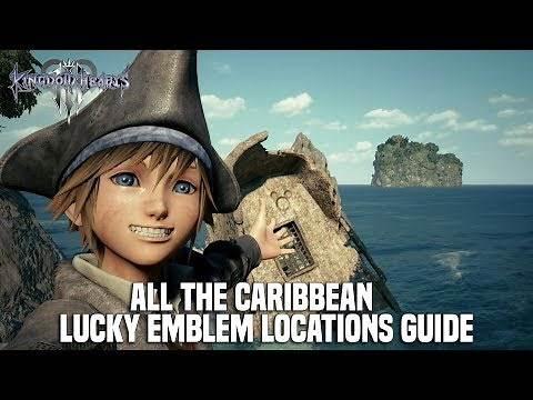 Kingdom Hearts 3 - The Caribbean Lucky Emblem Locations (Mickey Emblem Locations)
