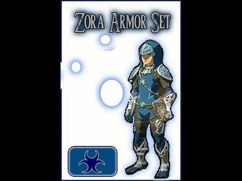 Zelda Breath of the Wild : ALL Zora Weapons Armor Complete with Locations