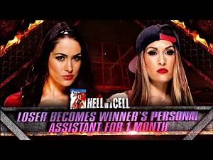 WWE Hell in a Cell 2014 Brie Bella vs Nikki Bella, (Loser Becomes Personal Assistant) PG WWE 2K14
