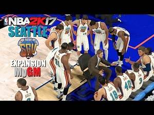 NBA 2K17 (PS4) - MyGM | Expansion Franchise - EP3 (First NBA Game!)