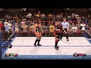 WWE 2K15 Bam Bam Bigelow vs Fit Finlay