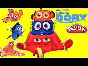Disney PIXAR FINDING DORY Play-Doh Cake with TOYS, Nemo and Hank! #FindingDory