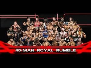 EPIC ENDING! 40 Man Royal Rumble WWE 2K14
