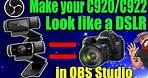 Make your C922/C920 look like a DSLR using Filters!! **FIX - Saving Camera Settings**