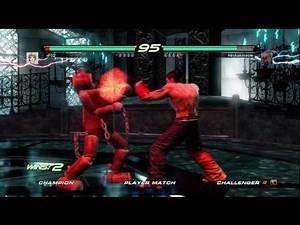 Tekken 6 BR: Mokujin vs Jin
