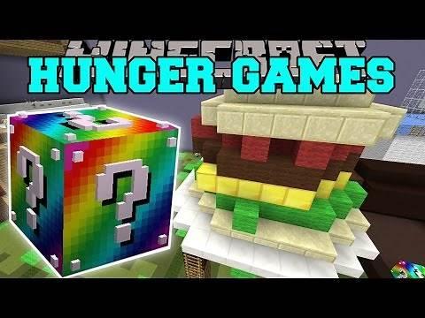 Minecraft: BIGGEST SANDWICH EVER HUNGER GAMES - Lucky Block Mod - Modded Mini-Game