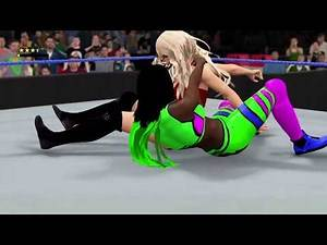 WWE 2K17 - Lana vs Naomi [for the SD Womens Champion] | SmackDown Live