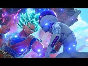 JUMP FORCE - Super Saiyan Blue Goku & Vegeta vs Golden Frieza Gameplay (HD)