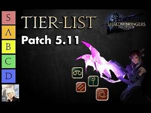 5.18 Tier List/Meta | Power Ranking for each Job in FFXIV: Shadowbringers