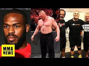 Jon Jones Says He Never Left USADA Testing Pool, Brock Lesnar Looking Smaller, Cain Promoted By WWE