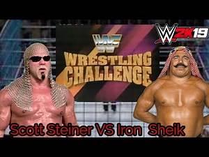 WWE 2K19 Old School Gameplay Match Scott Steiner VS Iron Sheik Inside the Blue Steel Cage