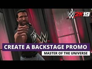How To Create Backstage Promos For Universe Mode? (WWE 2K19)