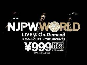 NJPW WORLD - NEW CM