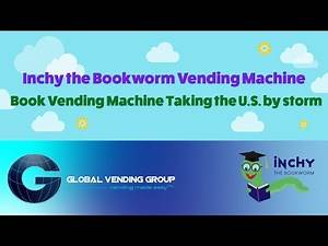 Inchy the Bookworm Book Vending Machine | Book Vending Machine Taking the US By Storm!