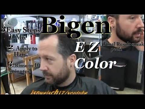 Bigen EZ Color hair color review video / Straight Razor Shave around beard 2014