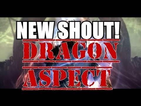 Skyrim: Dragon Aspect New Shout Word Locations and Demonstration (Skyrim: Dragonborn DLC Gameplay)