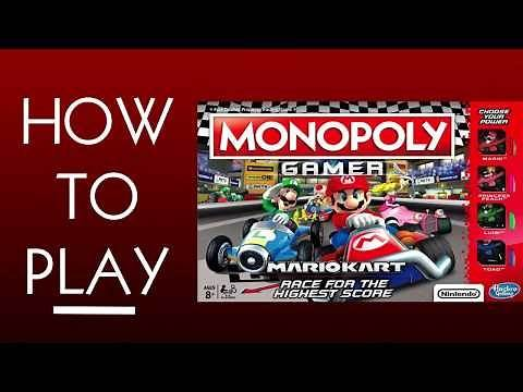 How To Play Monopoly Gamer: Mario Kart Board Game From Hasbro