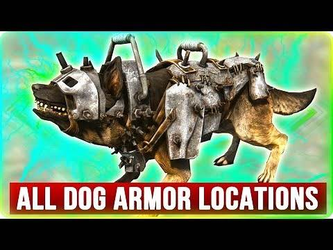 Fallout 4 ALL Armor Locations for Dogmeat!