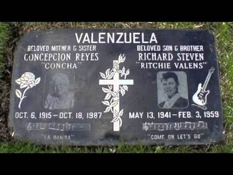RITCHIE VALENS, FIRST CHICANO ROCK STAR DEAD IN PLANE CRASH