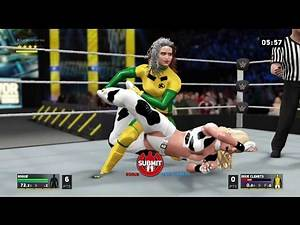 WWE 2K17 Rogue Squashes Dixie Clemets - Leg Submission Ironman Match