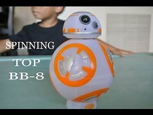 Star Wars BB-8 Spinning Top Toy Unboxing and Demo