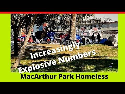 MacArthur Park Homeless Population Exploding!