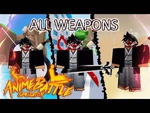 I Bought ALL Weapons in Anime Battle Simulator! (Showcase) | Roblox