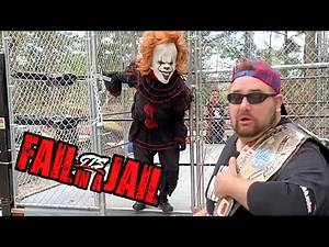FIENDISH CLOWNS STEEL CAGE CHALLENGE GONE WRONG! GTS Fail In A Jail PPV