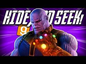 Gmod Hide and Seek - AVENGERS INFINITY WAR EDITION! (Garry's Mod Funny Moments)