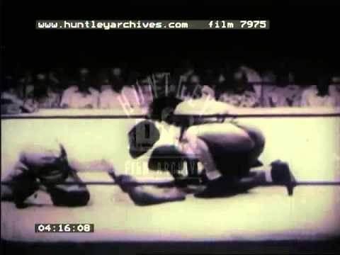 Women's Wrestling Match, 1950's - Film 7975